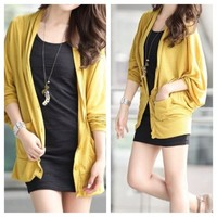 Yellow Button Up Cardi