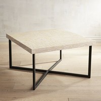 Mother-of-Pearl Square Coffee Table