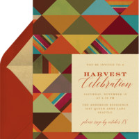 Autumn Triangles Invitations | Greenvelope.com