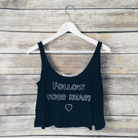 Follow Your Heart Lace Back Tank