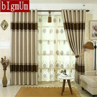 Earopean Simple Design Blackout Curtains for Living Room