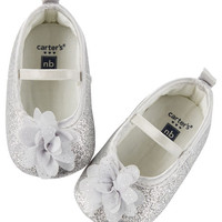 Carter's Sparkle Rosette Mary Jane Crib Shoes