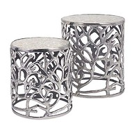 Set of 2 Charismatic Daltry Coastal Tables by IMAX