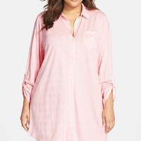 Plus Size Women's Lauren Ralph Lauren Jersey Sleep Shirt,