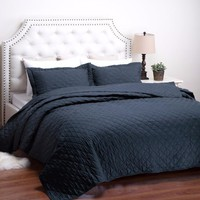 Quilt Bedspread Set Diamond Pattern Bed Cover Quilted Bedding Set Duvet Covers