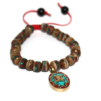 Brown Yoga Meditation Bracelet