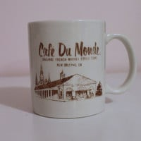 Chic French Cafe Du Monde 1970s Novelty Ceramic Coffee Mug