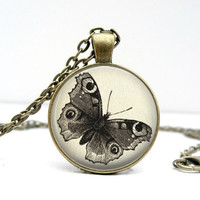 Butterfly Drawing Necklace