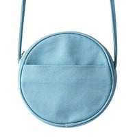 Canvas Circle Purse