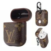 LV LOUIS VUITTON AirPods Leather Case