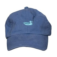 Washed Hat in Slate with Green Duck by Southern Marsh