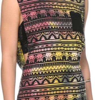 Empyre Lauryn Multicolor Tribal Muscle Tee