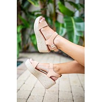 Wish On Platform Espadrille Wedge - Nude