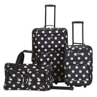 F165-BLACKDOT 3 Pc Luggage Set