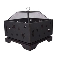 Pleasant Hearth Stargazer 26 in. Deep Bowl Steel Fire Pit-OFW314S - The Home Depot