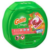 Gain Flings! 3 in 1 Tropical Sunrise Scent Laundry Detergent Pacs - 42 Count