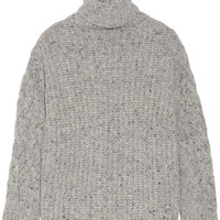 Adam Lippes - Chunky-knit wool and cashmere-blend turtleneck sweater