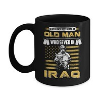 Never Underestimate An Old Man Who Served In Iraq Mug