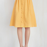 Intern of Fate Skirt in Citrus Dots | Mod Retro Vintage Skirts | ModCloth.com