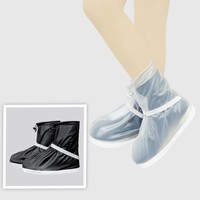 Men Women Waterproof Reusable Shoes Covers Non-slip Rain Boots Ankle Strap and Folding Design Shoes Covers Shoes Accessories