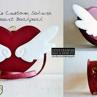Custom Heart Satchel | HoneyBadger Bags | Facebook