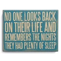 Primitives by Kathy 'No One Looks Back' Box Sign