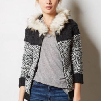 NWT ANTHROPOLOGIE by SLEEPING ON SNOW HEARTH HOODIE SWEATER JACKET M
