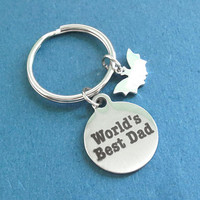 World's Best Dad, Batman, Silver, Key ring, Key chain, Love, Dad, Gift, Jewelry, Accessories