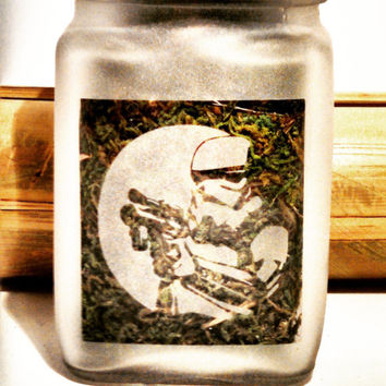 Storm Trooper Stash Jar - Star Wars Inspired- Free UPGRADE to Priority Mail within the US