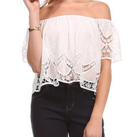 Lace Cropped Top   Lord and Taylor