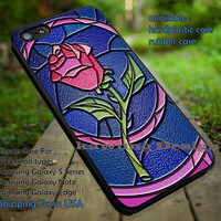 The Beauty and The Beast Rose Stained Glass iPhone 6s 6 6s+ 5c 5s Cases Samsung Galaxy s5 s6 Edge+ NOTE 5 4 3 #cartoon #disney #animated #BeautyAndTheBeast dt
