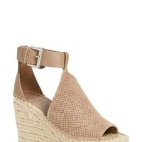 Marc Fisher LTD Annie Perforated Espadrille Platform Wedge (Women) | Nordstrom