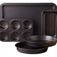 Sunbeam 76893.05 Kitchen Bake 5-Piece Bakeware Set, Carbon Steel