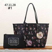 COACH 2019 new floral print women's shopping bag handbag shoulder bag two-piece #1