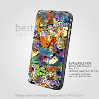 All Pokemon Character Design - iPhone 4/4s/5/5s/5c Case - Samsung Galaxy s2/s3/s4 Case - Black or White
