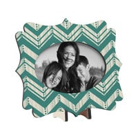 Heather Dutton Weathered Chevron Tabletop Frame