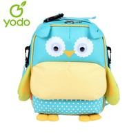 Yodo CUte Kids Baby Bags 3D Owl 3-Way Toddler Backpack Anti-lost School Bags For Girls Boys Insulated Thermal Mochila Escolas