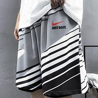 NIKE Summer New Fashion Letter Hook Print Shorts