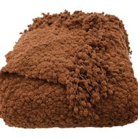 Betsy Chocolate Boucle Throw