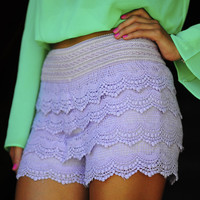It's So Lacy Shorts: Lavender | Hope's