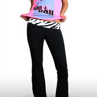 Luckless Clothing Company | Fold Over Yoga Pant (ZEBRA) | Online Store Powered by Storenvy