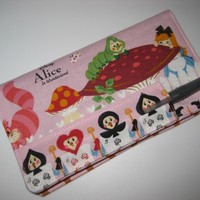 Fabric Checkbook Cover Bifold Wallet Pen Holder made with Alice Fabric | Nancym4 - Accessories on ArtFire