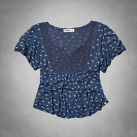 lacy peasant top