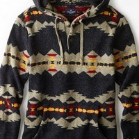 AEO 's Patterned Hooded Sweater (Multi)