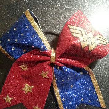 Super Hero WONDER WOMAN Cheer Bow