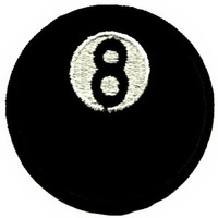 Eight Ball Iron-On Patch Pool Billiards