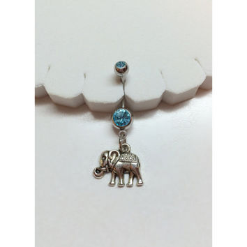 Elephant Belly Button Ring - Body Jewelry/Bellybutton Jewelry/Belly Navel Ring Piercing