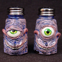 Tim Burton Styled  Gus and Gunny Salt and Pepper Shakers OOAK