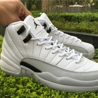 DCCK Air Jordan 12 GS ¡°Barons¡±WHITE