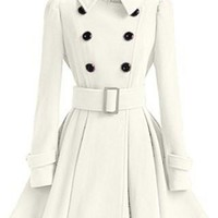 European Style Double Breasted Trench Coat